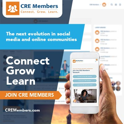 CRE Members Network For Commercial Real Estate Professionals Ad 1rs